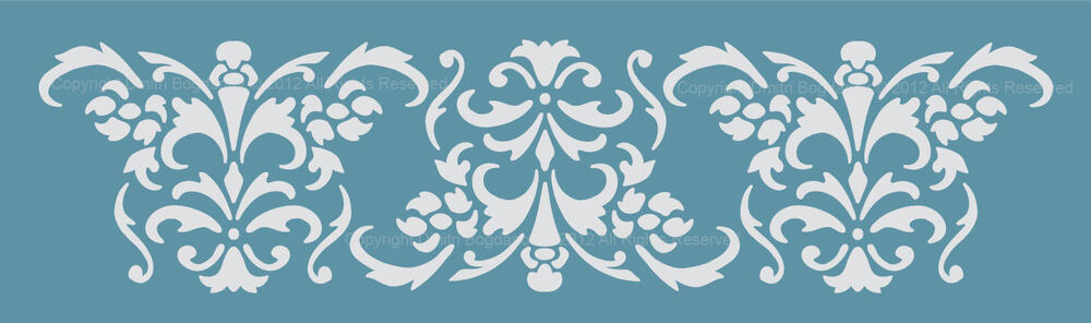 Damask Template For Cakes