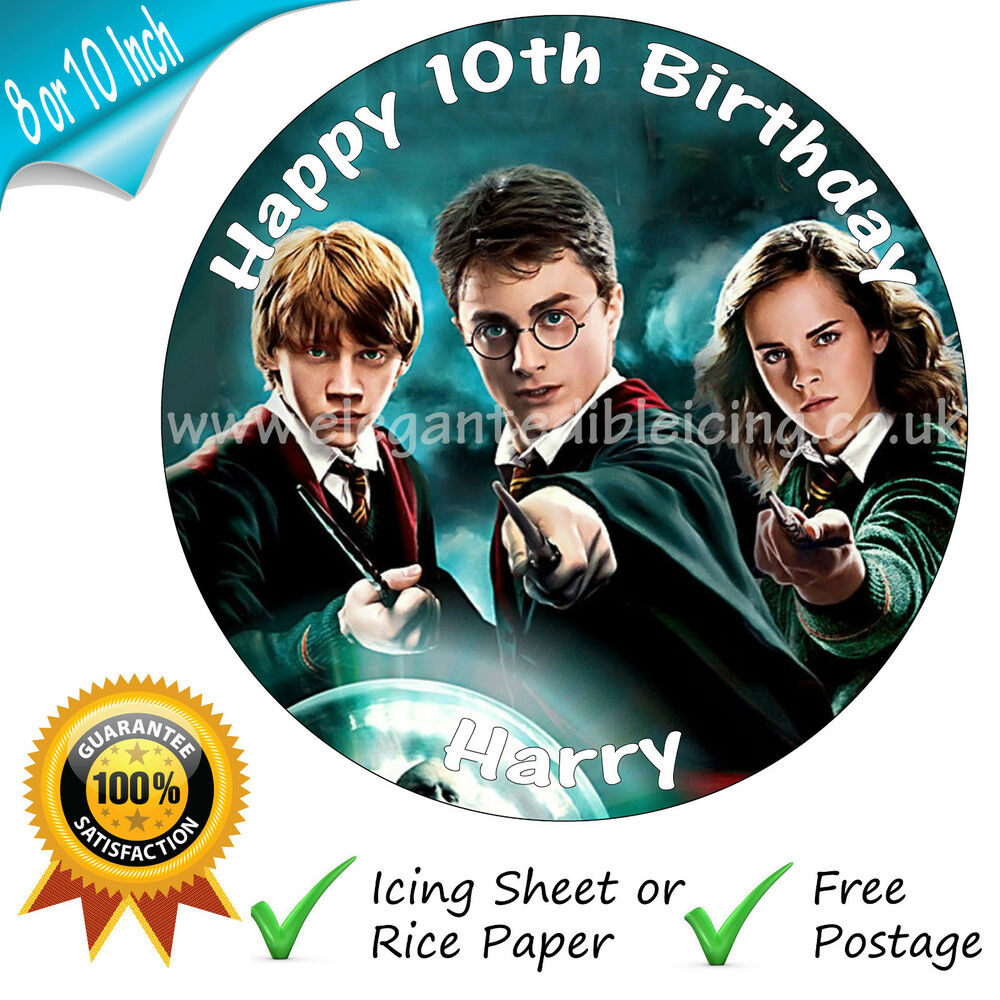HARRY POTTER PERSONALISED EDIBLE ROUND PRINTED BIRTHDAY ...