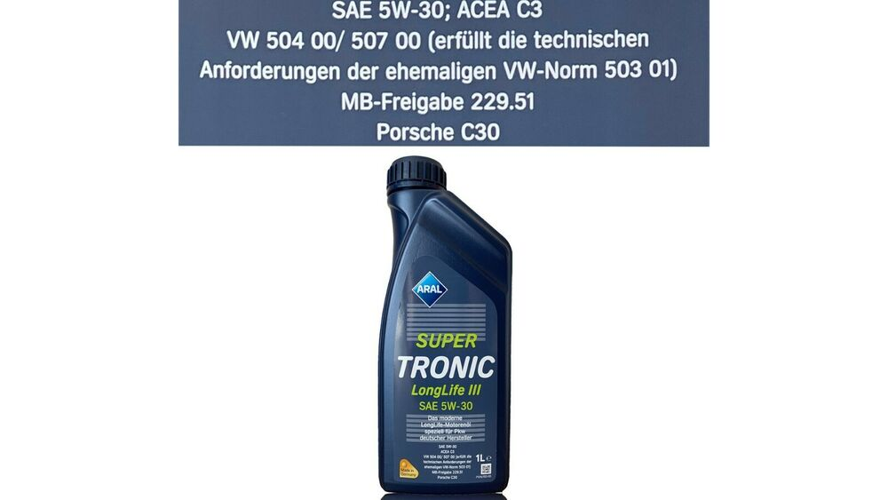 aral super tronic longlife 3 5w30 motor l 1 liter vw 50400. Black Bedroom Furniture Sets. Home Design Ideas