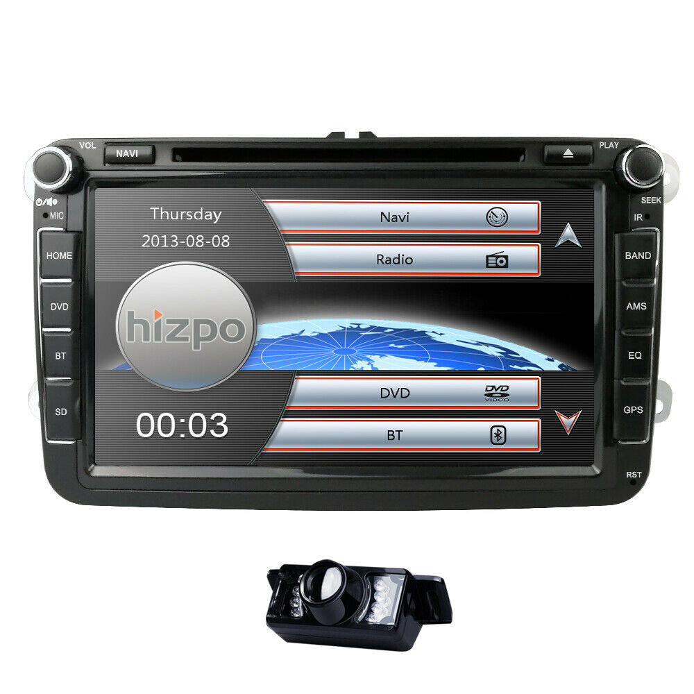 2 din 8 car radio dvd player gps navigator fit for vw golf 5 v mk5 6 vi plus cam ebay. Black Bedroom Furniture Sets. Home Design Ideas