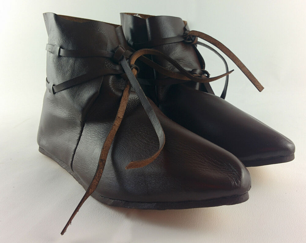 viking ankle boots leather with leather laces