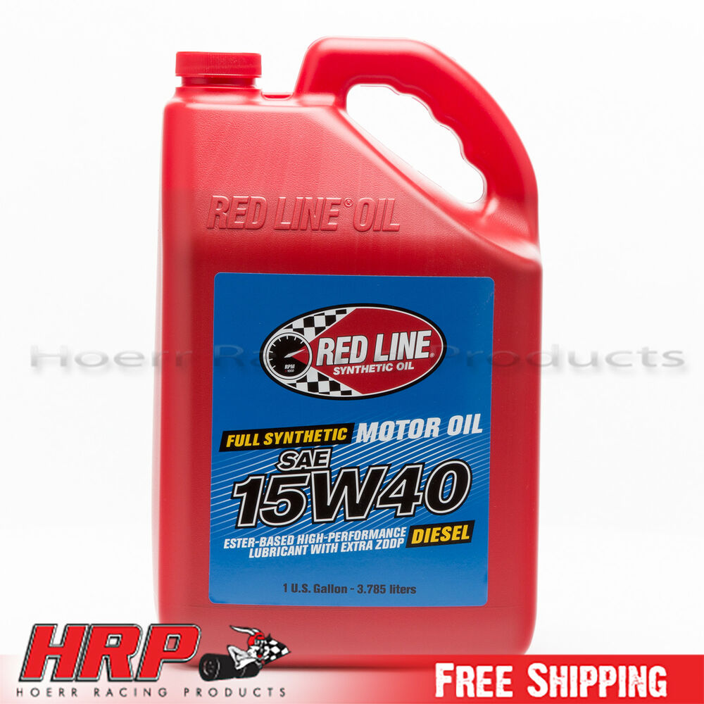 Redline 15w40 synthetic diesel oil 1 gallon pn 21405 for Gallon of motor oil