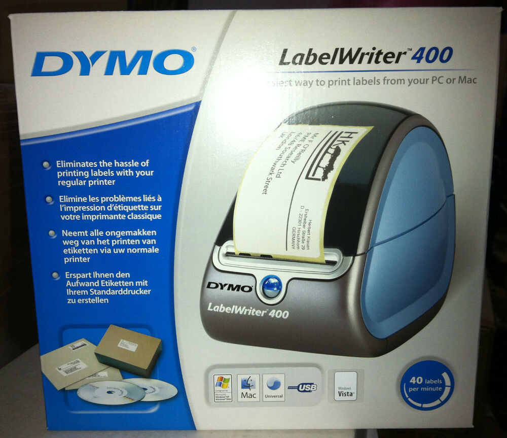 Dymo labelwriter 400 34628 93494 printer with eu power for Dymo labelwriter 400 labels