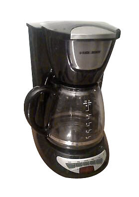 Black & Decker DCM100B 12-Cup Programmable Coffeemaker with Glass Carafe, New 88021108738 eBay