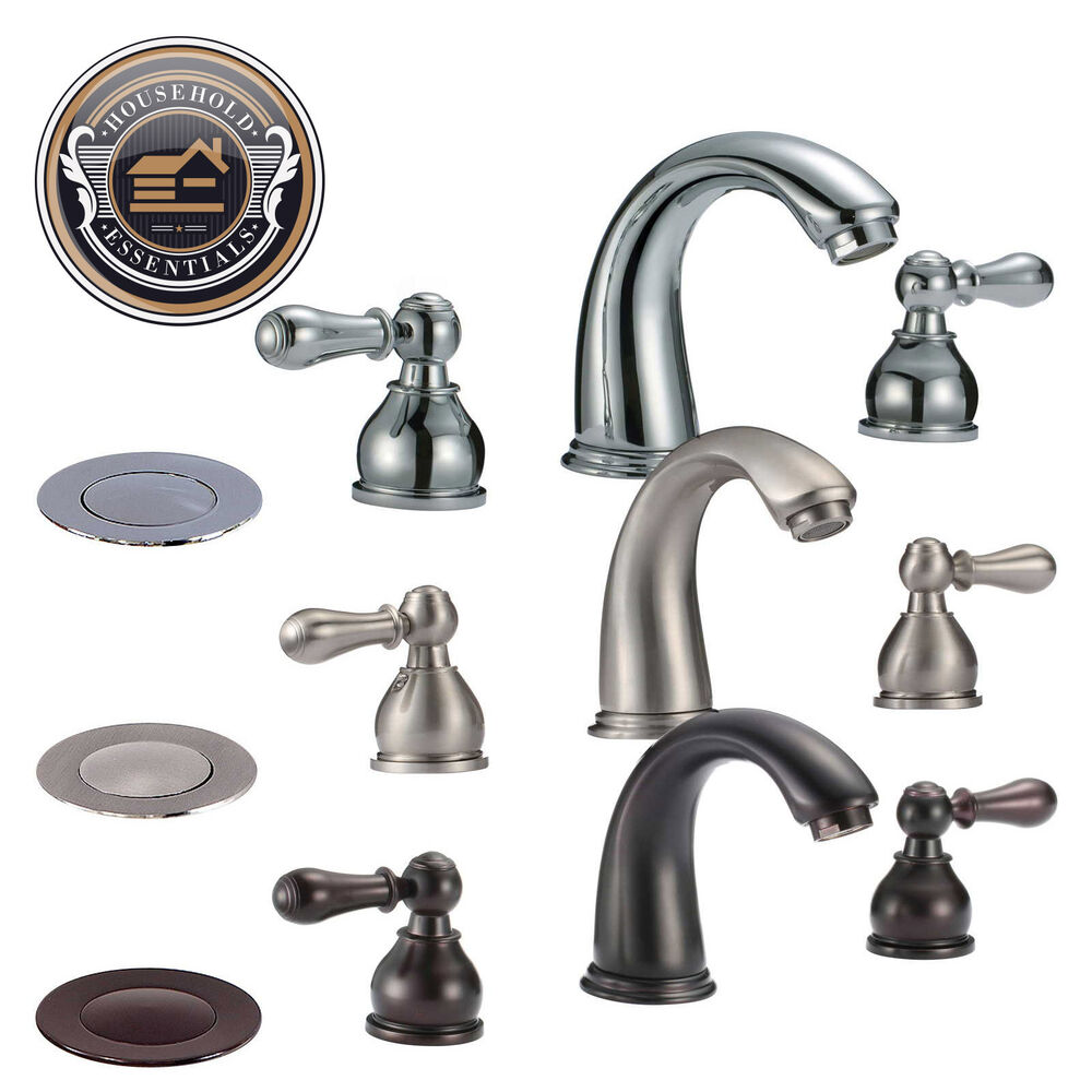 Widespread Bathroom Faucet with Drain eBay