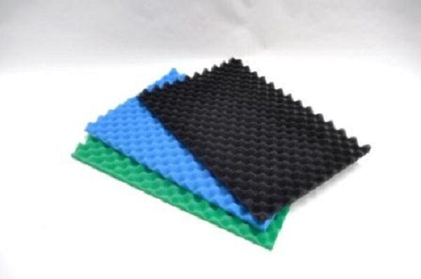 Egg box type foam pond filter replacement pads x 3 layers for Pond filter mat
