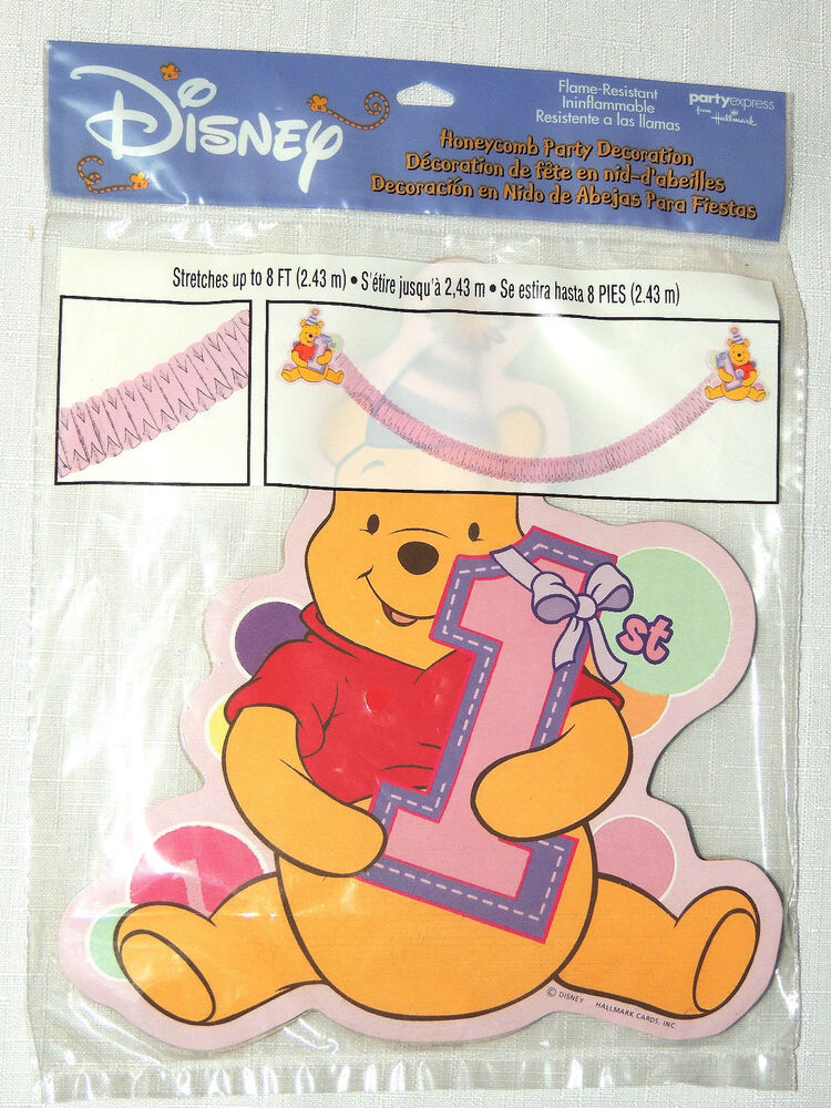 WINNIE THE POOH~ 1st BIRTHDAY 1- PAPER HONEYCOMB DECORATION PARTY ...
