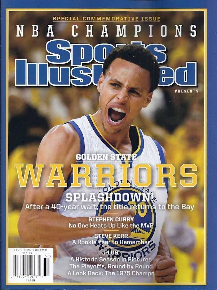 GOLDEN STATE WARRIORS COMMEMORATIVE SPORTS ILLUSTRATED NBA CHAMPION MVP Curry | eBay