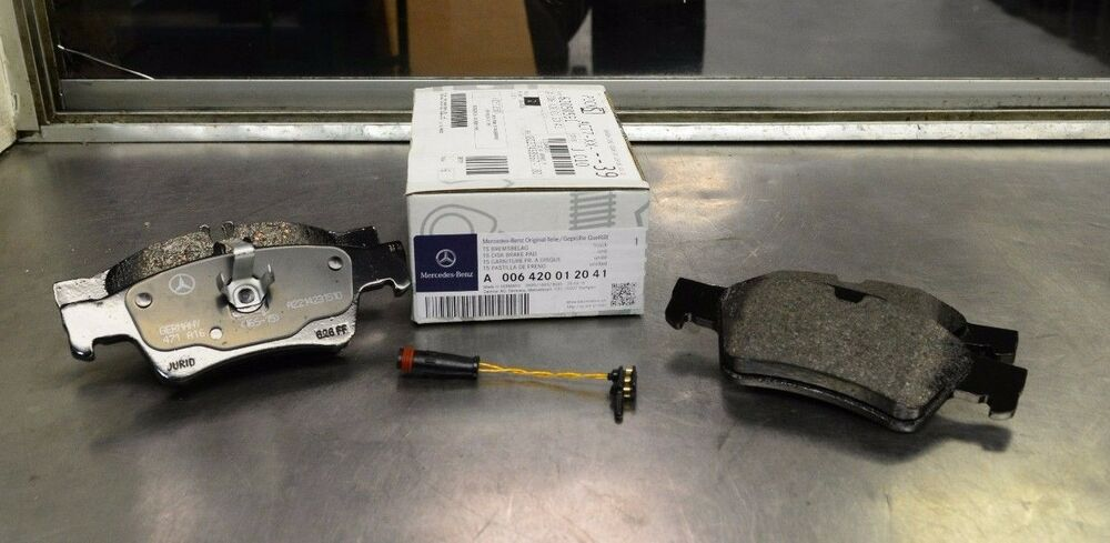 Oem genuine mercedes benz new rear brake pads 06 13 s for Mercedes benz rotors and pads