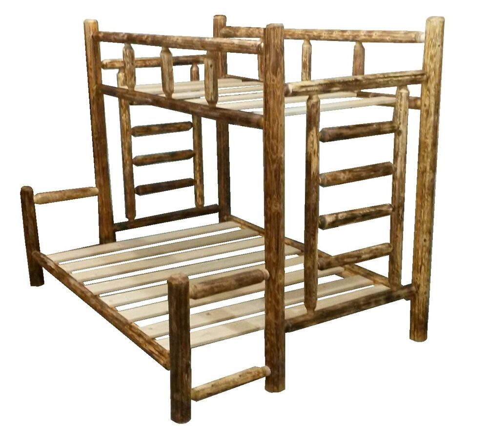 Log Bunk Bed Assembly