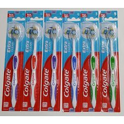 6 Colgate Toothbrush Extra Clean Full Head FIRM #95 Brushes HARD - NEW