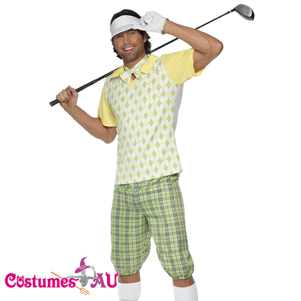 mens gone golfing costume golfer pub golf stag night fancy