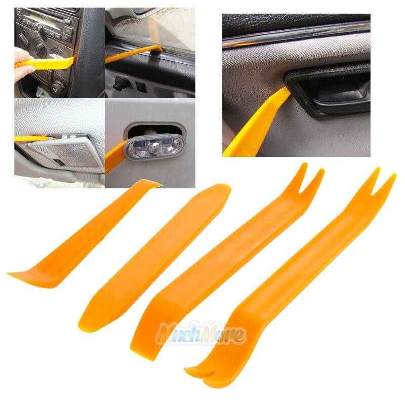 4 x car handle interior panel moulding trim removal installation pry tool set ebay. Black Bedroom Furniture Sets. Home Design Ideas