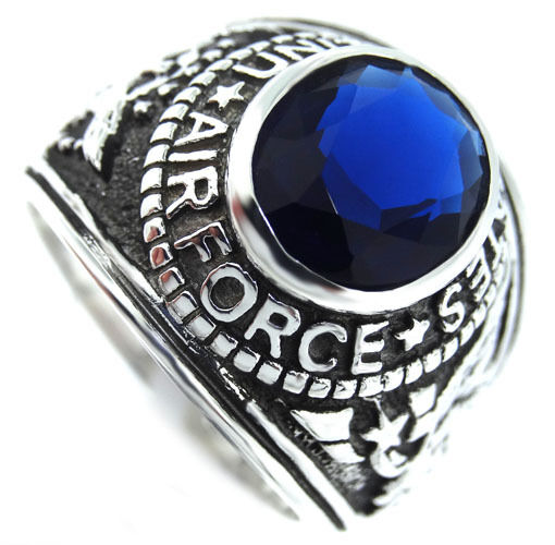 Montana Blue Us Air Force Military 925 Sterling Silver