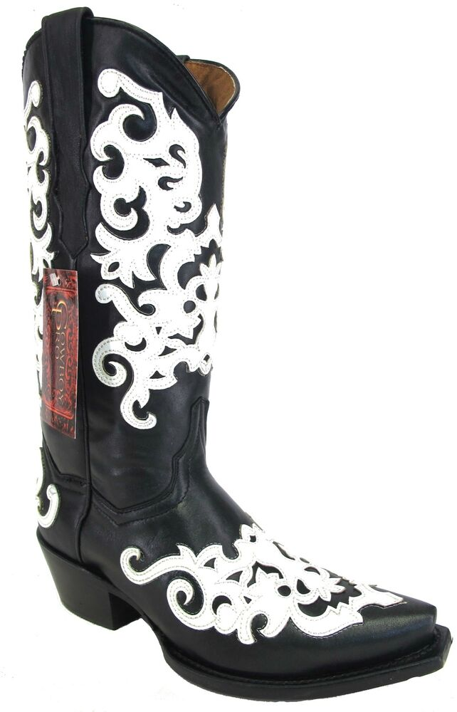 Women S New Beautiful Overlay Leather Cowgirl Western