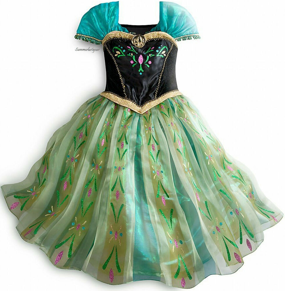 Princess anna coronation costume size 7 8 disney store - Princesse frozen ...