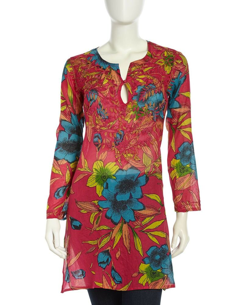 Tunic Ethnic Dress Top New 100% cotton Boho Beach Cover-up ...