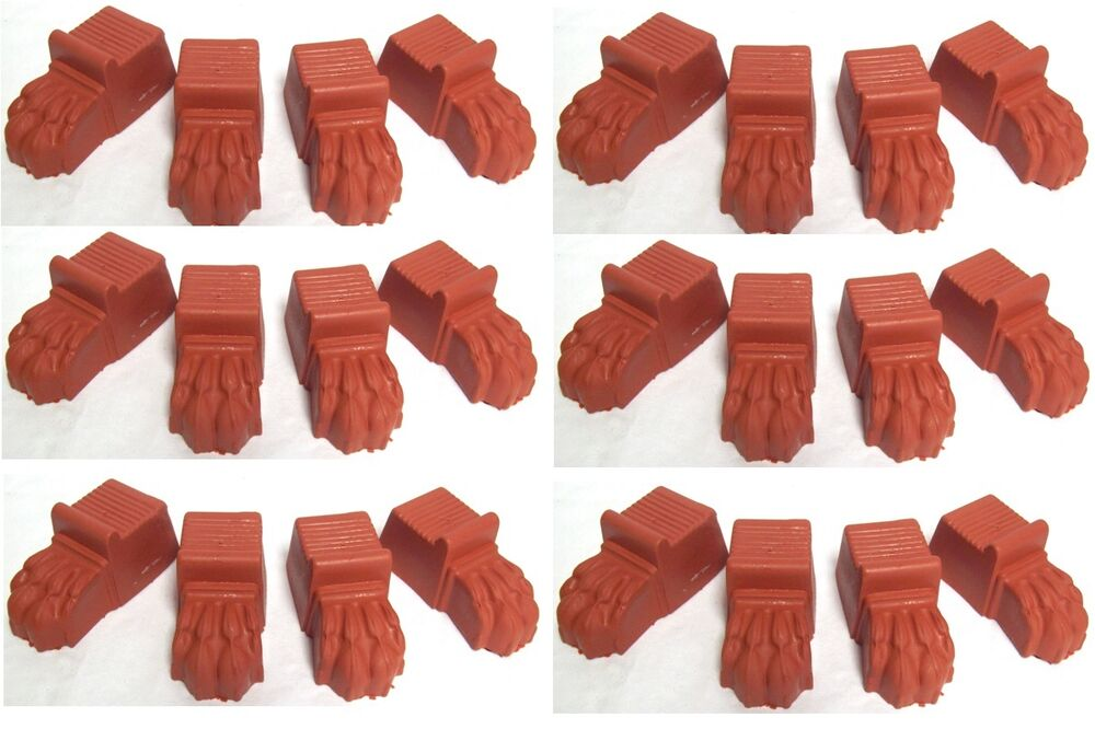 6 X Sets Of Terracotta Colour Plastic Lions Feet Plant Pot