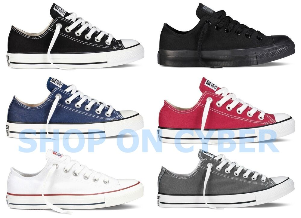 converse all star chuck taylor canvas shoes low top all size ebay. Black Bedroom Furniture Sets. Home Design Ideas