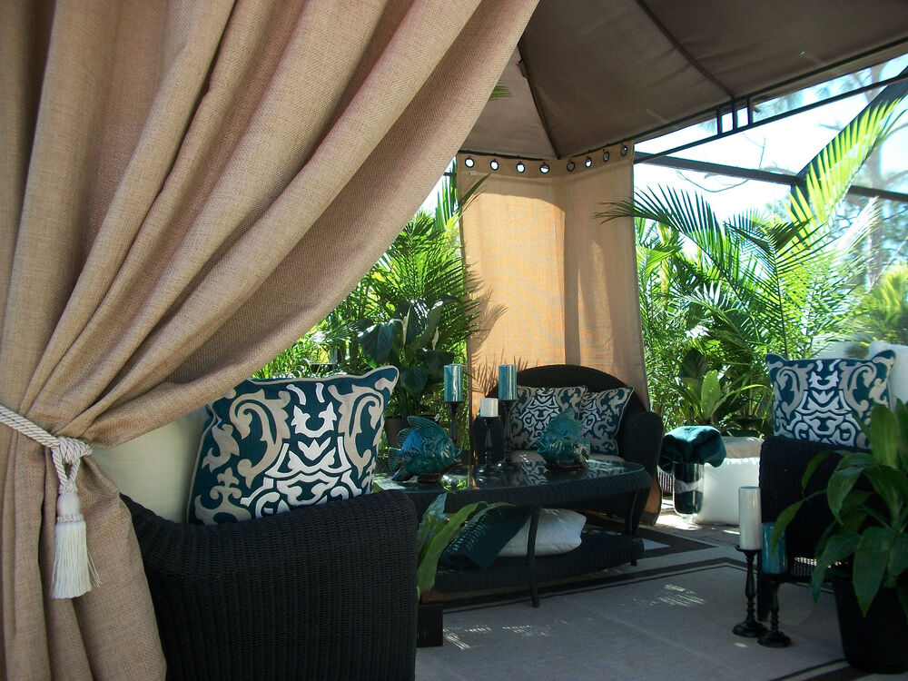 Outdoor Gazebo Curtain Panels