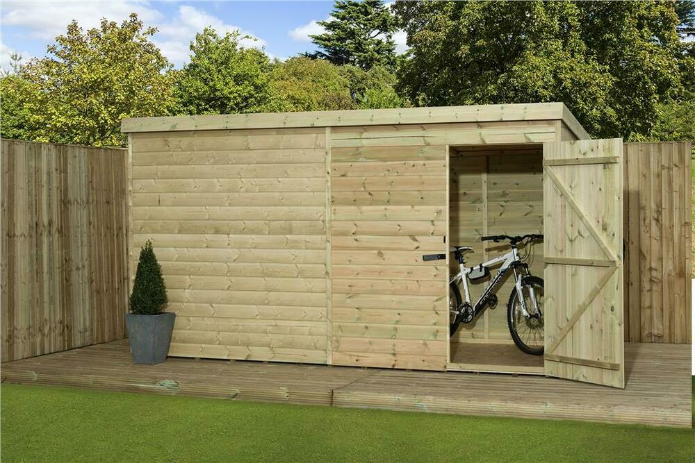 Garden shed 9x3 shiplap pent shed tongue and groove for Garden shed tab