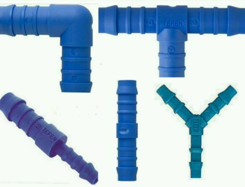 Plastic Barbed TEFEN Connector Pipe Hose Joiner Tubing