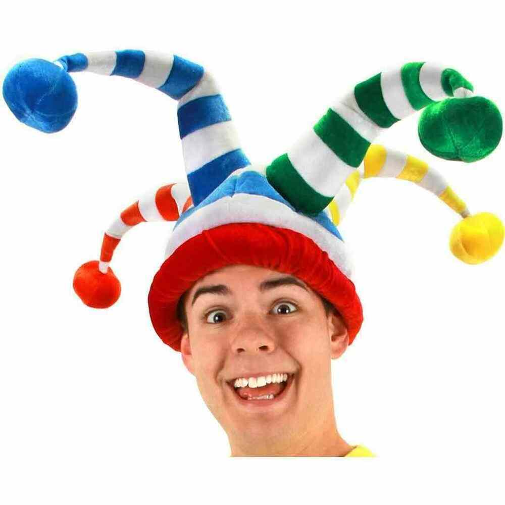 Wacky Hats: Wacky Jester Hat Clown Circus Medieval Court Crazy