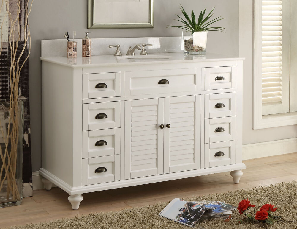 glennville 49 cottage bathroom vanity cabinet set in white gd28327 ebay