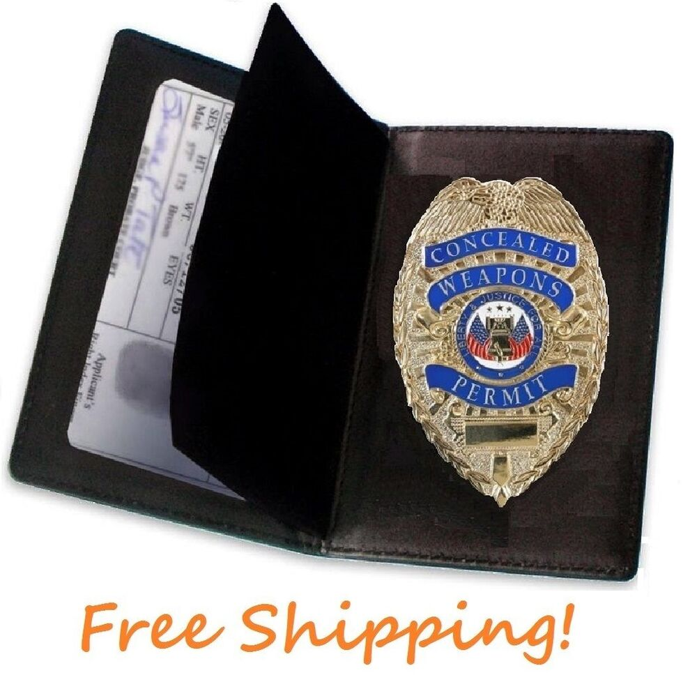 CONCEALED CARRY WEAPON GUN PISTOL PERMIT CCW GOLD BADGE ...