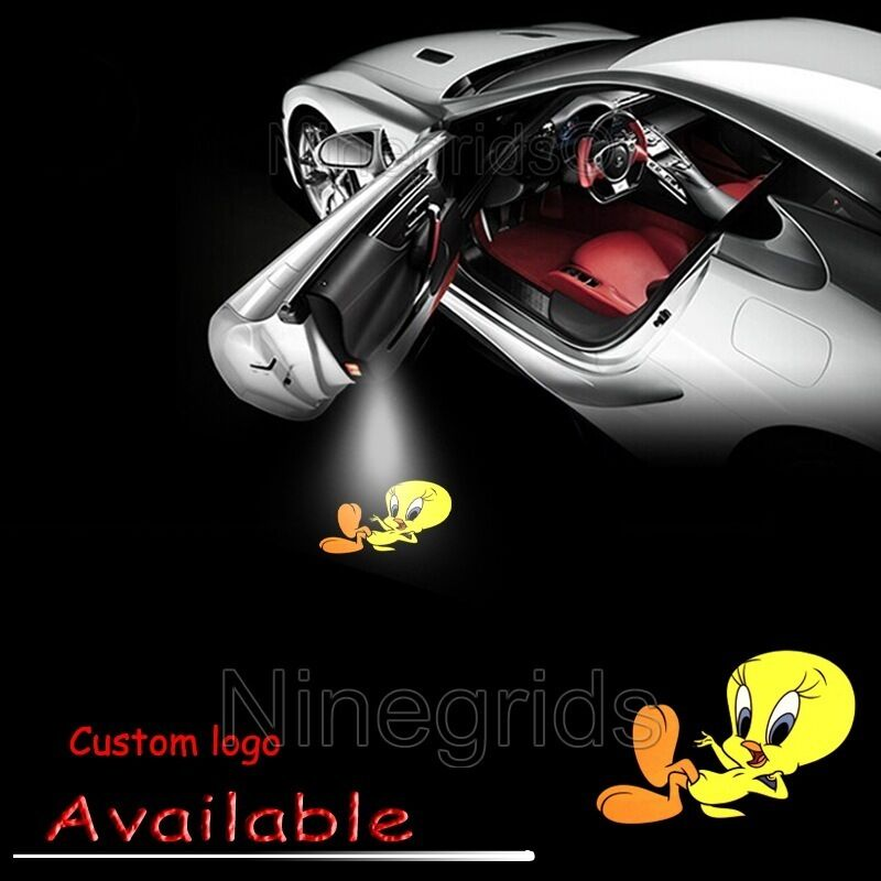led car door led welcome laser projector logo for tweety bird ghost shadow light ebay. Black Bedroom Furniture Sets. Home Design Ideas