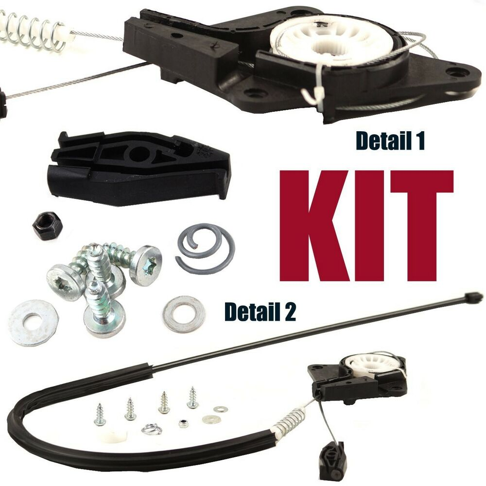 Electric Motor Kit For Volkswagen Beetle: KIT Rear Left Driver Window Regulator Repair Fit VW Beetle