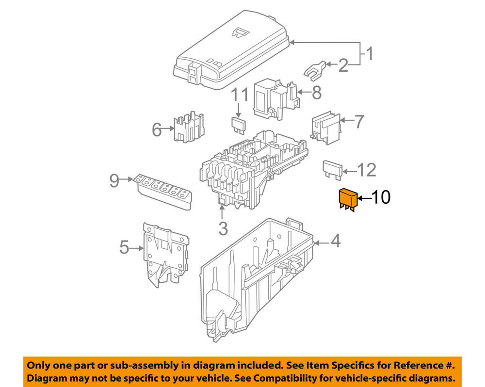 Audi Oem 07 09 Q7 Anti Theft Alarm System Relay 4h0951253 Ebay 2009 Wiring Diagram