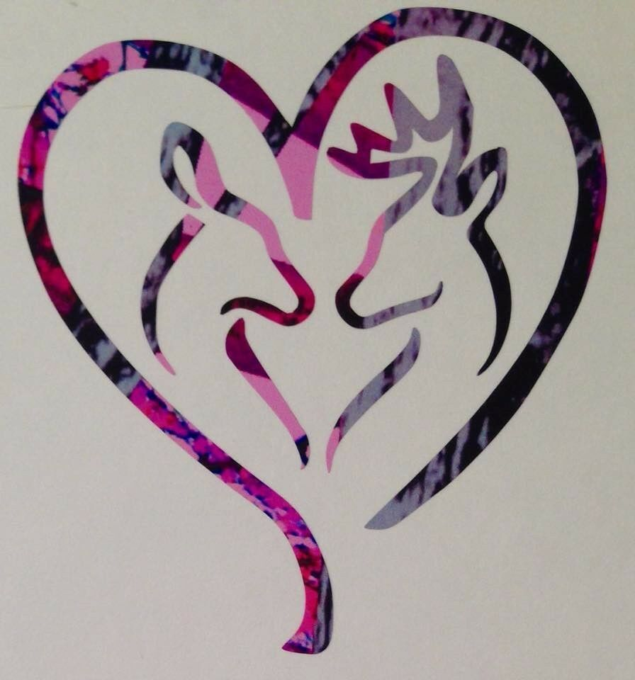 Browning symbol buck and doe gallery symbol and sign ideas deer heart doe buck vinyl decal 5 camo pink blue muddy country deer heart doe buck buycottarizona