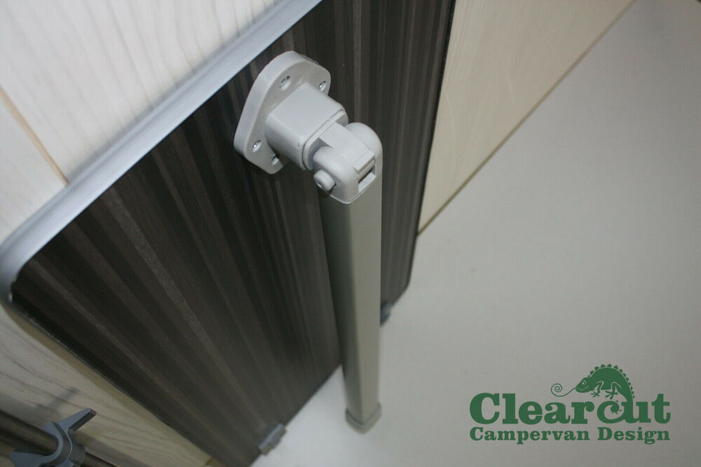 Stripewood Campervan Table With Leg And Rail Motorhome