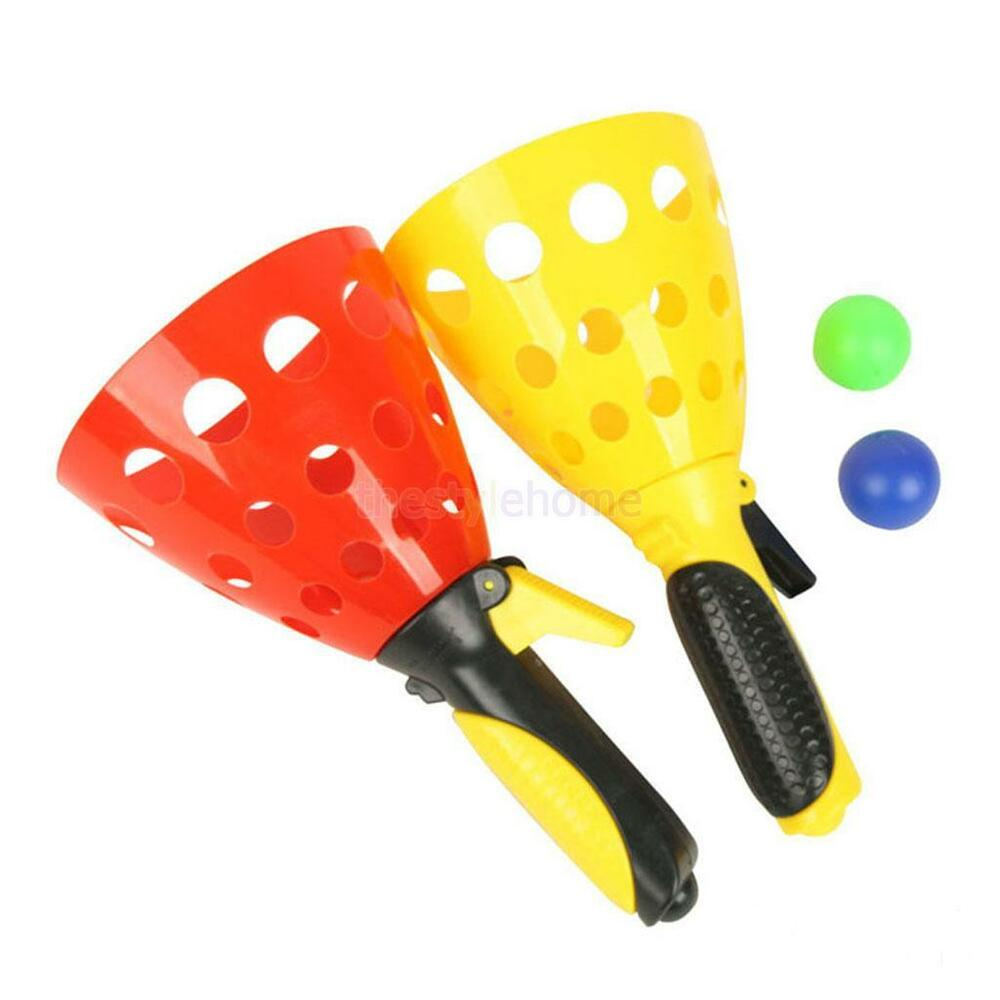 Ball Game Toy : Click and catch ball game indoor outdoor garden toy set
