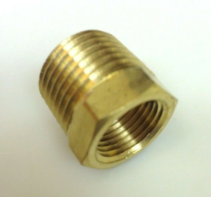Brass Hex Reducing Bushing 1 2 Quot Male Nptf X 3 8 Quot Female