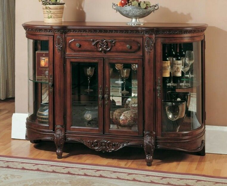 Solid Wood Credenza Display Cabinet Free Delivery 48