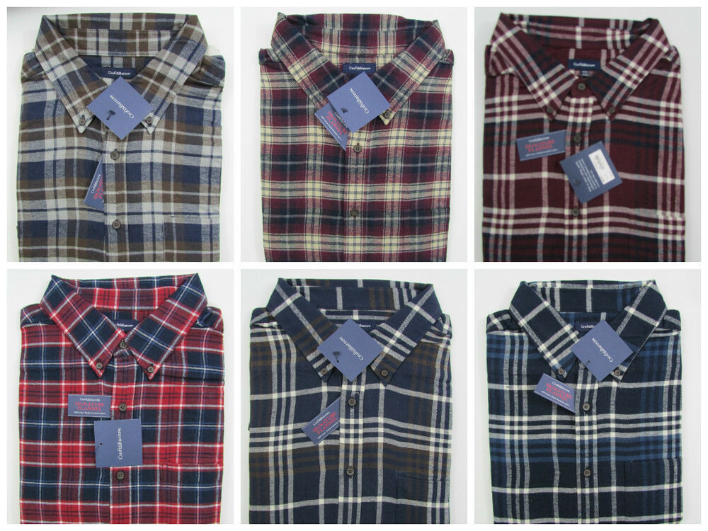Big tall flannel shirt mens nwt croft barrow western ebay for Large tall flannel shirts