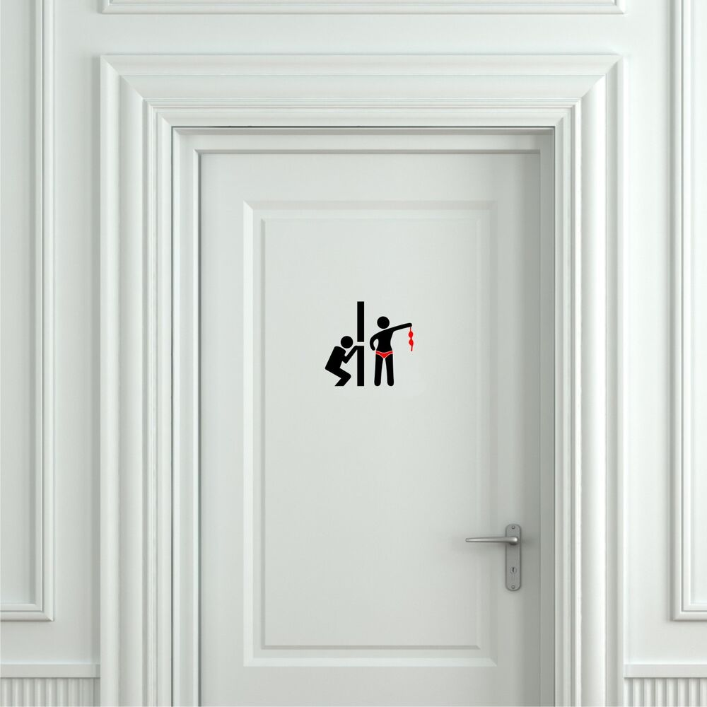 Boat Bathroom Signs: Funny Toilet Peek Sign Sticker