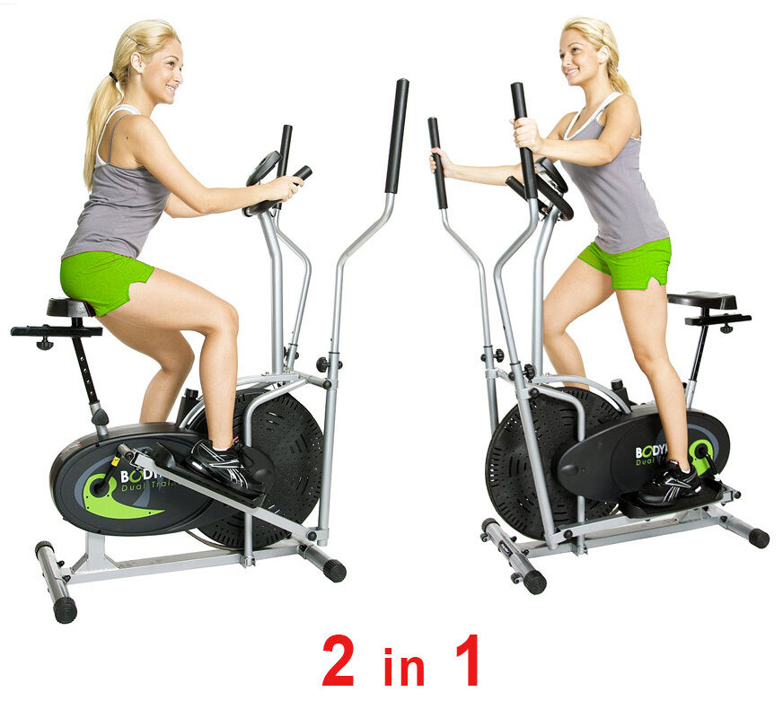 Upright Exercise Bike Elliptical Fitness Machine Equipment