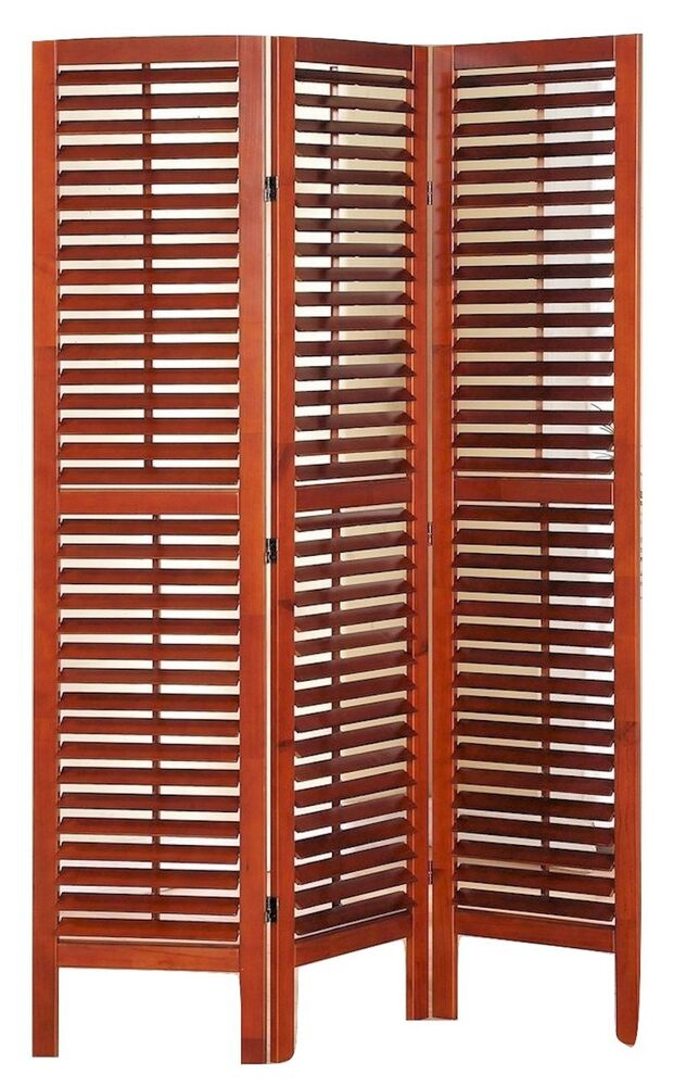 Panel solid wood screen room divider with full length