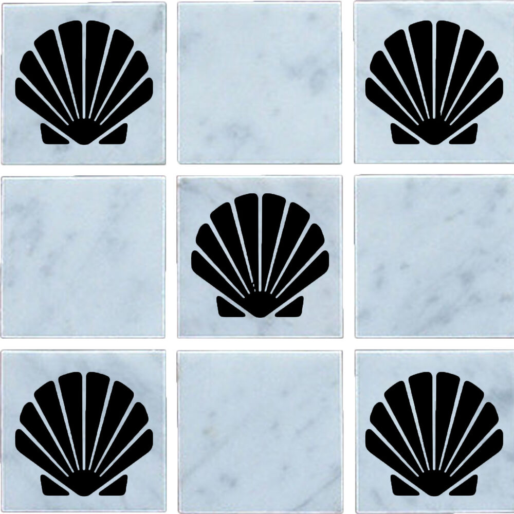 Sea shell vinyl wall tile stickers decal transfers for