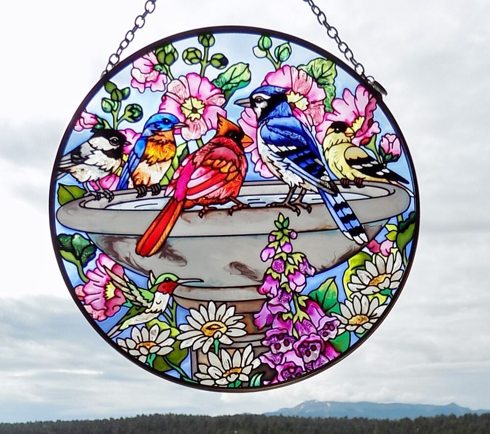 Amia Painted Glass Suncatcher