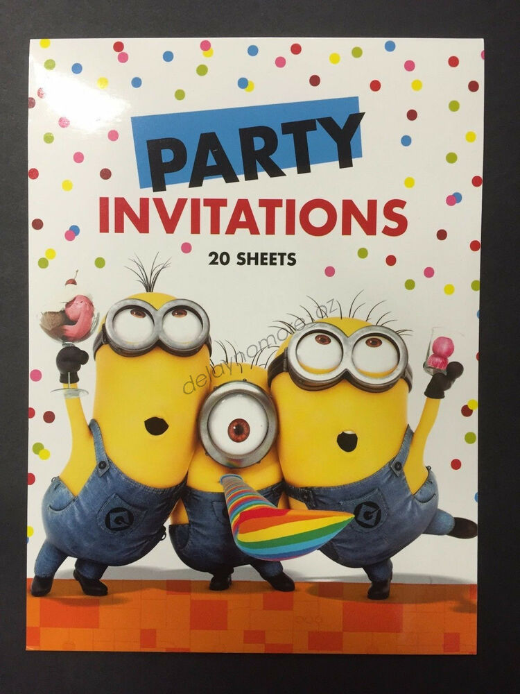 Despicable Me Minion Themed Birthday Baby Shower Party Supplies 20