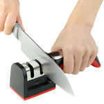 Handle Household Knife Sharpener Hard Carbide Ceramic Sharpening Stone 2 Stages