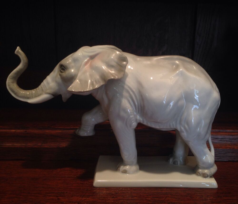 Set of 2 porcelain white elephant salt and pepper shakers Bavaria Faithfully Modeled Big Elephant made of Biscuit China, '' Height, White and Matt, in Rosenthal Quality, Delivered in .
