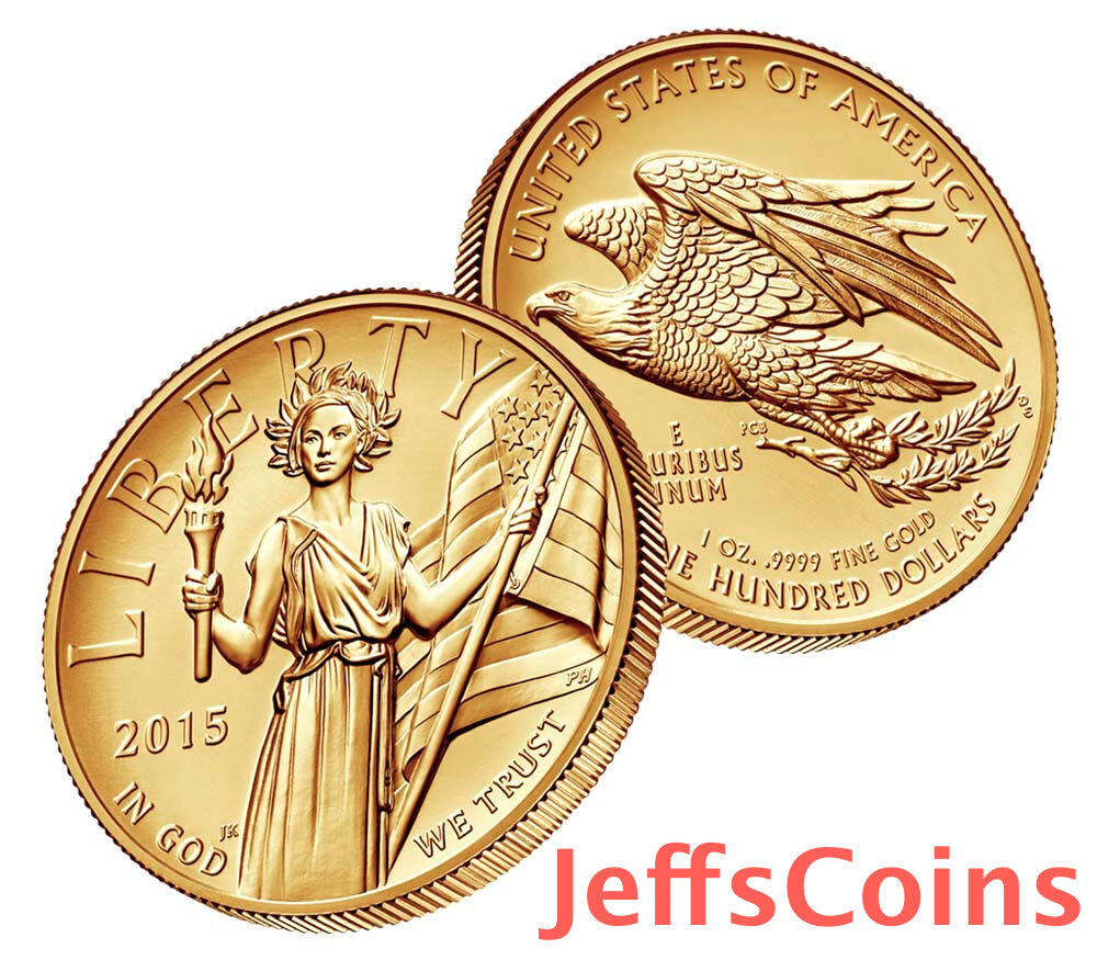 American Liberty 2015 W High Relief Gold Coin 1oz 9999 24