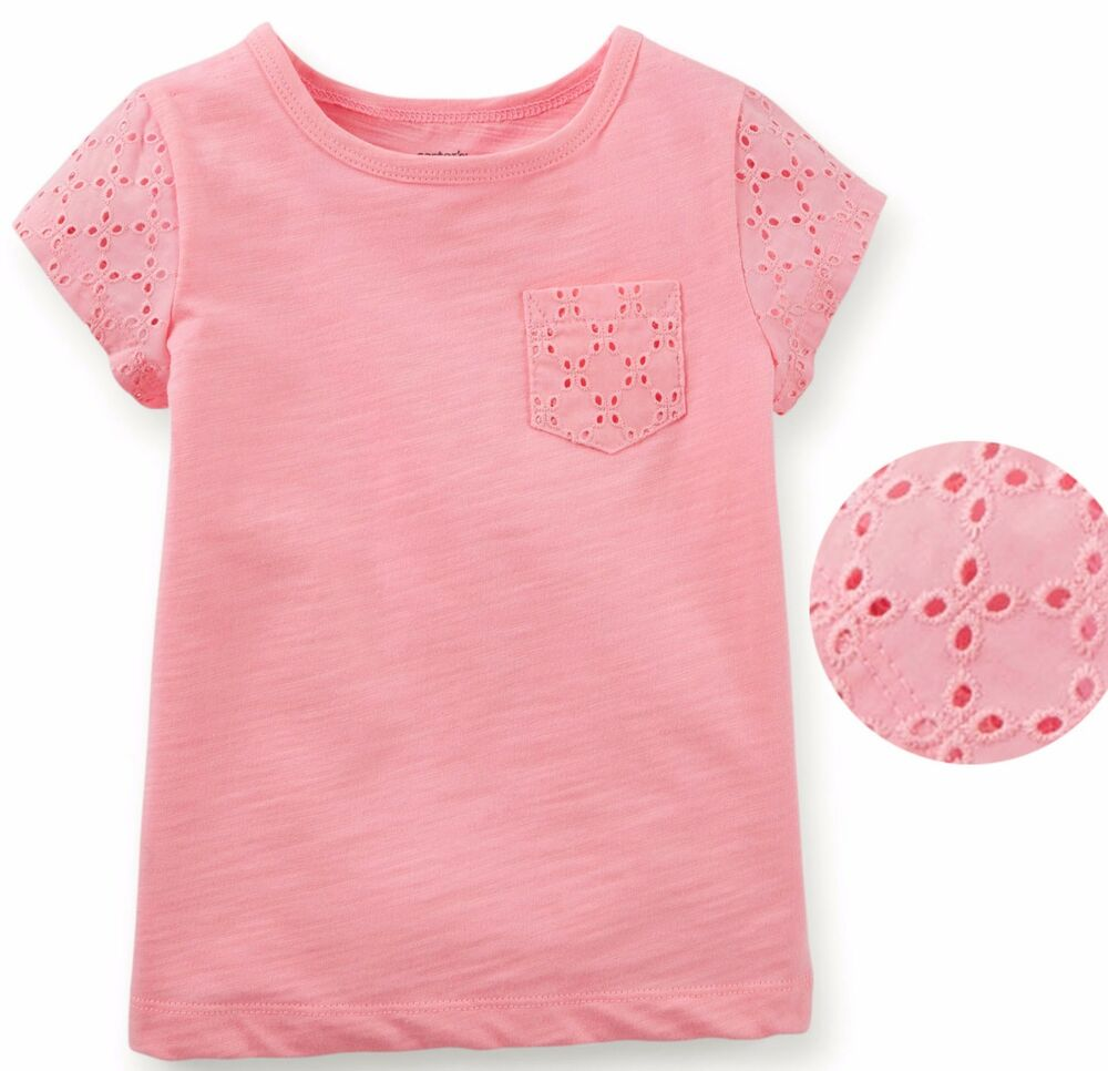 Carter 39 S Baby Toddler Girl Eyelet Lace Short Sleeve Tee