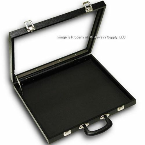 Glass Top Lid X-Large Display Carrying Case W/ Handle 16 1