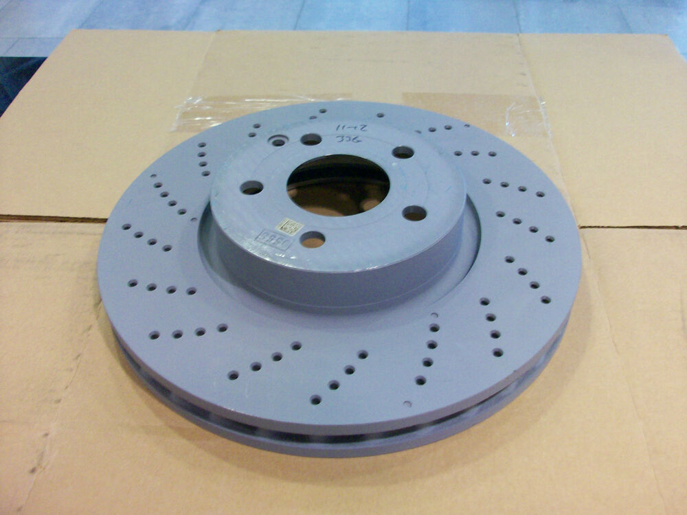 Oem genuine mercedes benz new front brake rotors x2 for for Mercedes benz e350 brake pads replacement